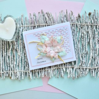 Tattered Poinsettia Card