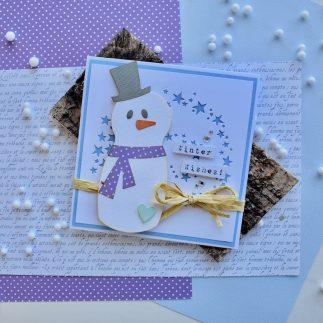 Snowman Card V- log
