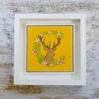 DIY Deer frame home decor