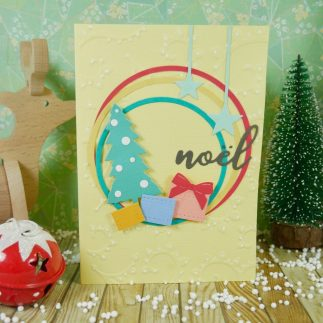 Christmas Card using Embossing Diffusers (VIDEO)