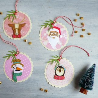 DIY Christmas gift Tags Cool Yule + Video tutorial