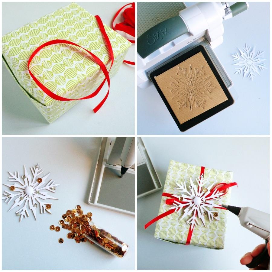 Easy DIY Christmas Gift Wrapping Idea