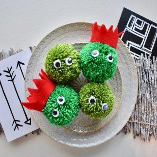 Festive Sprout Pom Poms