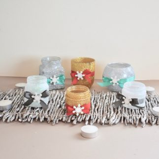 Glitter Tea Light Holder V-Log