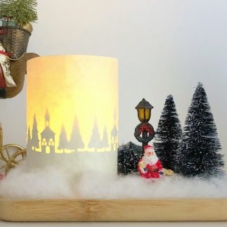 Christmas decor candle (VIDEO)