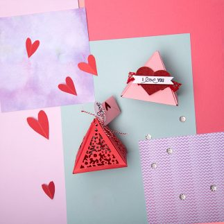 Triangle Gift Box for Valentine's Day - VIDEO