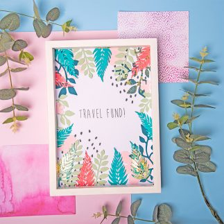 How to make a Travel Fund money box frame