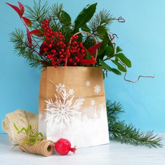 How to Make Simple Paper Bag Planters for Winter