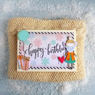 Winter Birthday Girl card