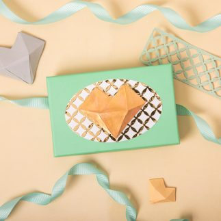 Faceted heart giveaway box (VIDEO)