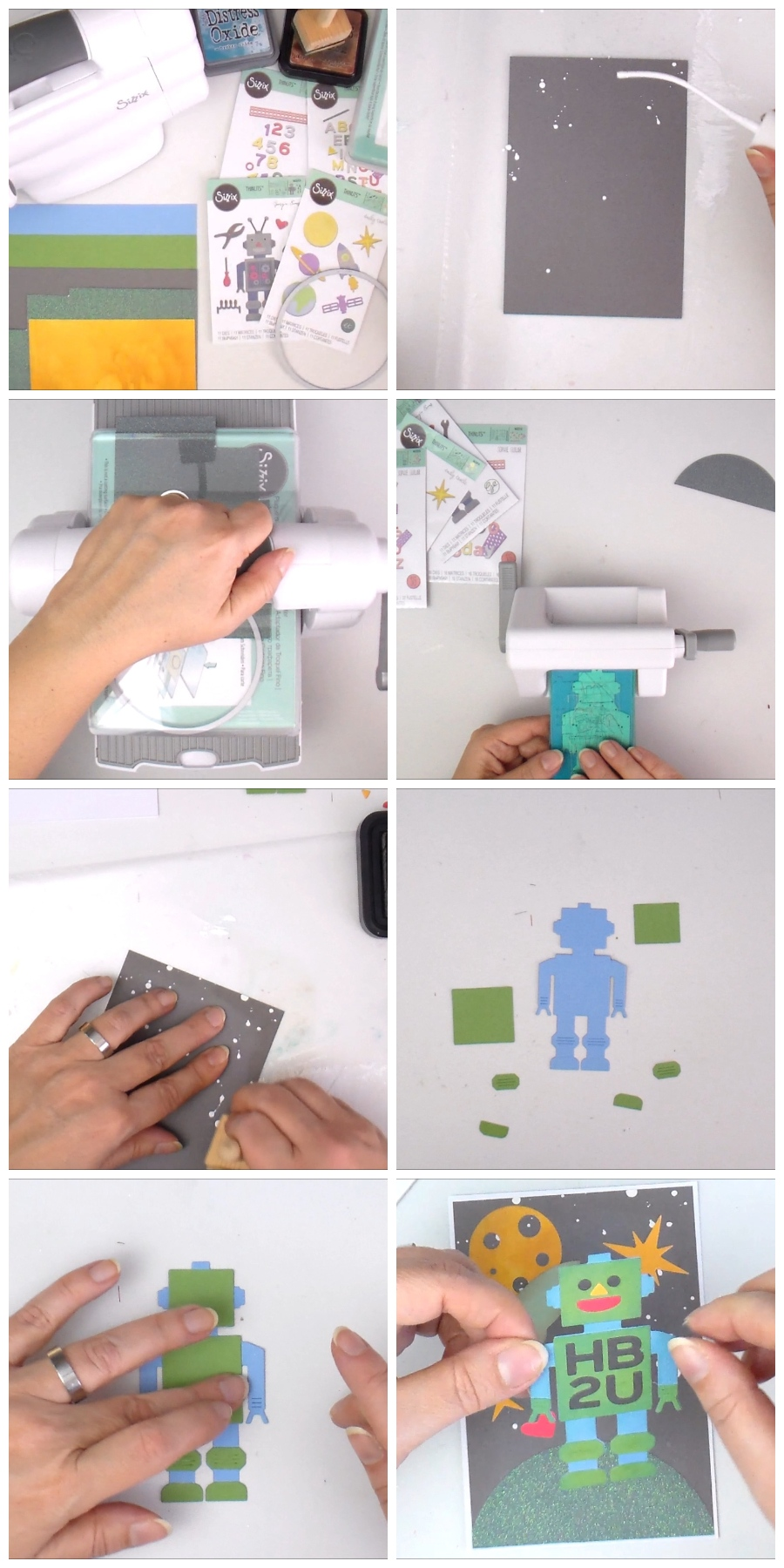 Handmade Birthday Robot Greeting Card