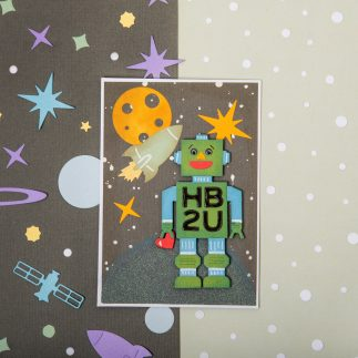 Handmade Birthday Robot Greeting Card - VIDEO