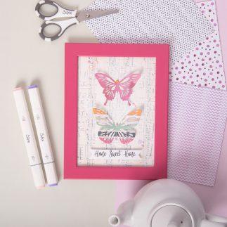 Paper Butterflies Frame tutorial