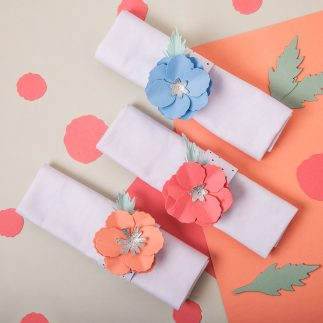 How to make a Flower napkin ring