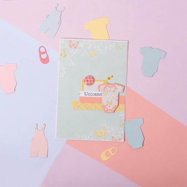 How to make a Baby Onesie Card
