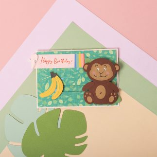 Monkey Slider Card - VIDEO
