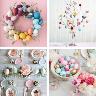 Making Easter Wreaths and Decorations