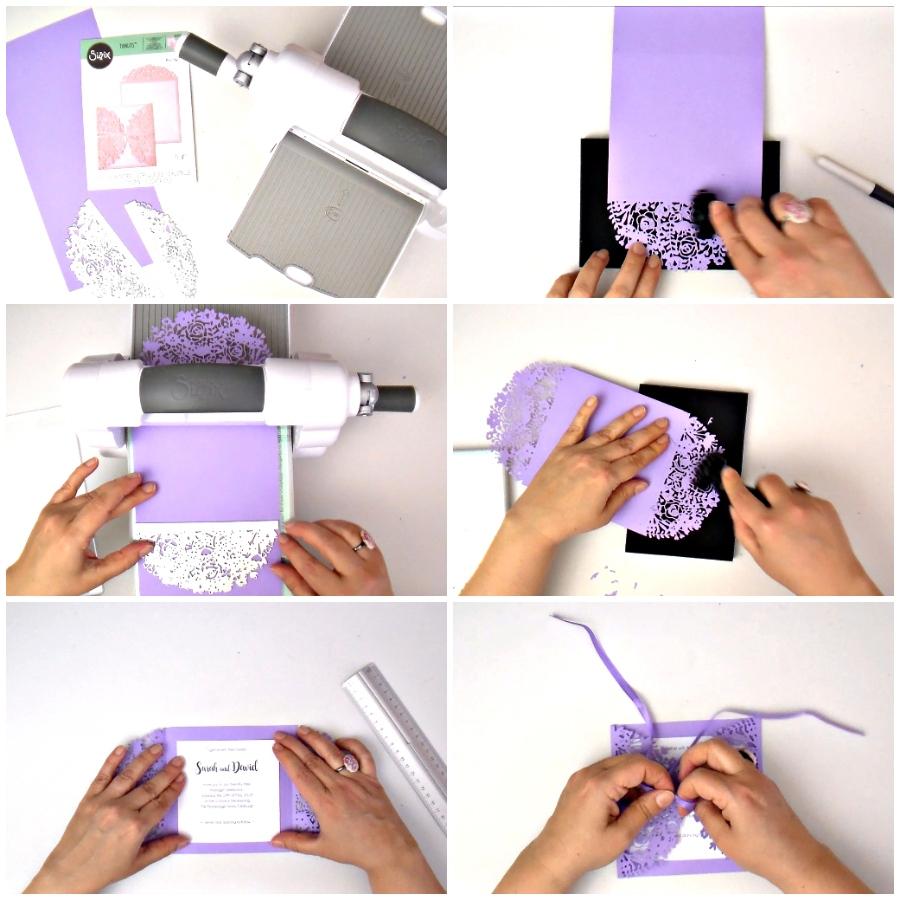 DIY Elegant lilac Wedding invitation