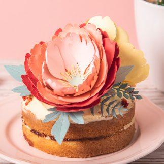 DIY Peony Wedding Cake Topper
