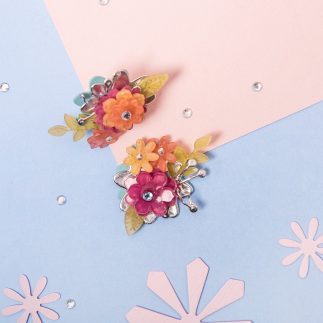 Flower earrings using shrink plastic