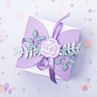 DIY Elegant lilac Wedding favor box – VIDEO