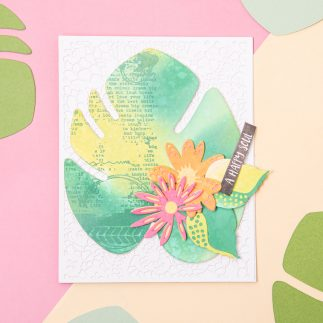 Tropical Leaf Card