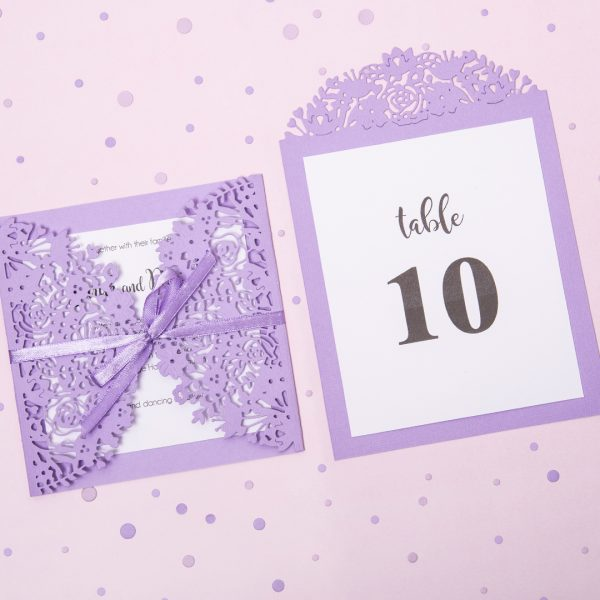 DIY Elegant lilac Wedding invitation - VIDEO