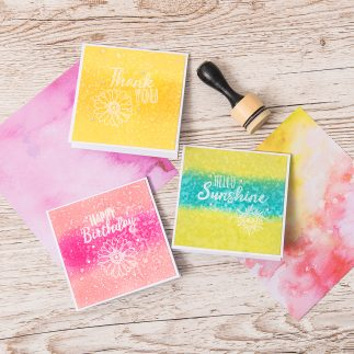 Stamped Sentiment Cards