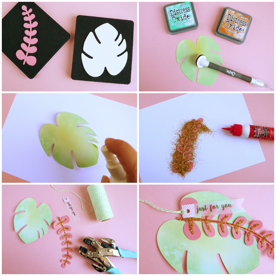 DIY Tropical leaf tag