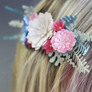 Paper craft floral headpiece