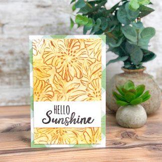 Hello sunshine card (VIDEO)
