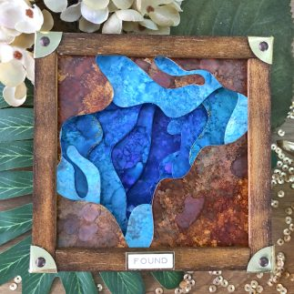 Faux geode home decor