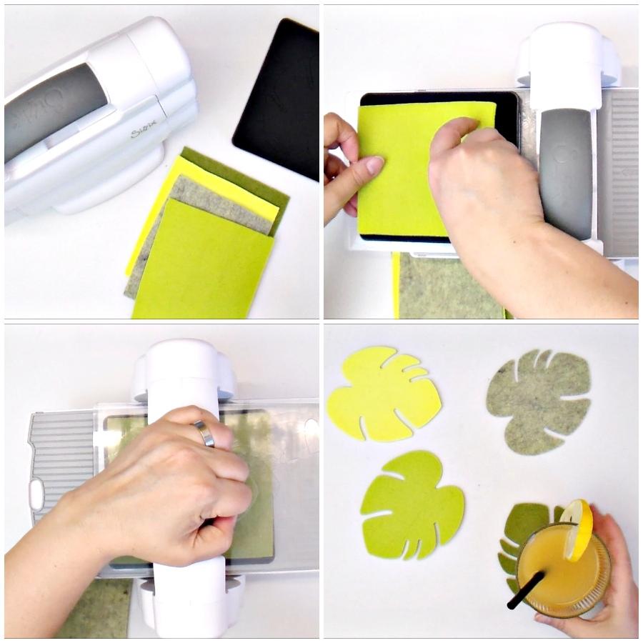 DIY Tropical Monstera leaf coasters - VIDEO
