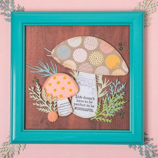 DIY frame art with Toadstool mushroom - VIDEO