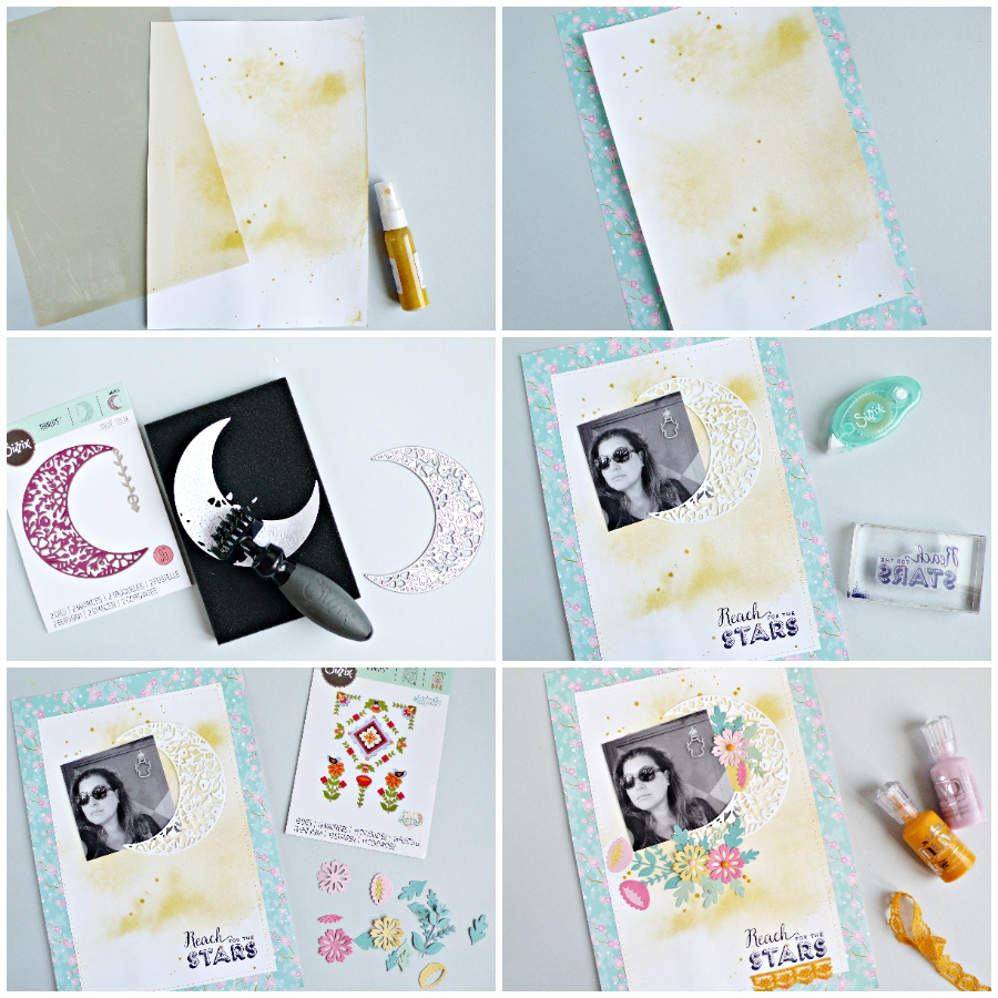 Create scrapbooking embellishments using Sizzix dies