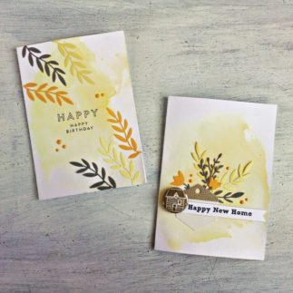 Card Set with Folk Art Stencil