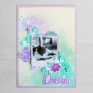 Scrapbook layout - Mixed Media with the embossing powder