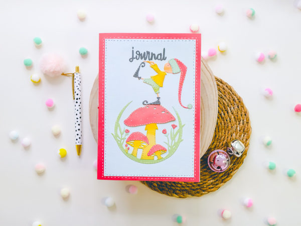 Beautiful journal with paper piecing technique!