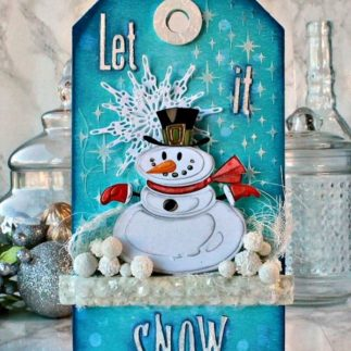 Mr Snowman Tag featuring Tim Holtz designs – by Daydreams In Paper