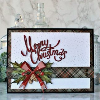 Deck the Halls Christmas Card using Tim Holtz designs - by Daydreams in Paper