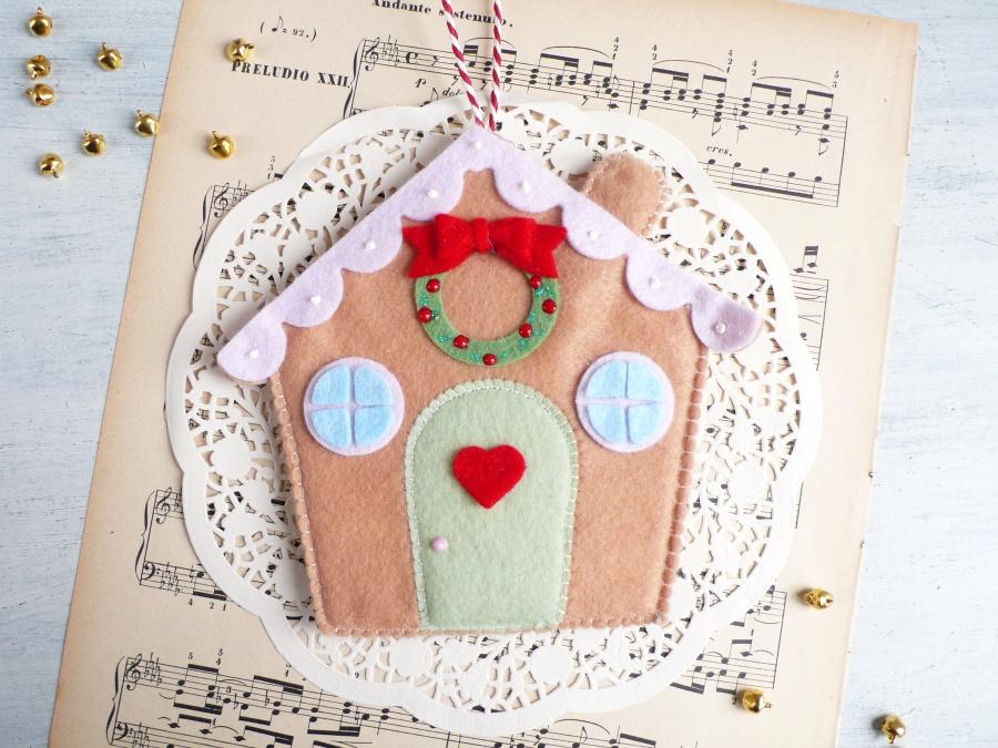 Felt Gingerbread House for Christmas