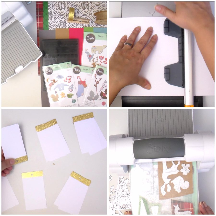 How to make Die Cut and Stamped Christmas Tags - VIDEO