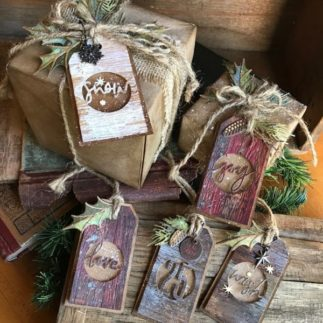Woodland Gift Tags using Tim Holtz designs by Tattered Nest Designs
