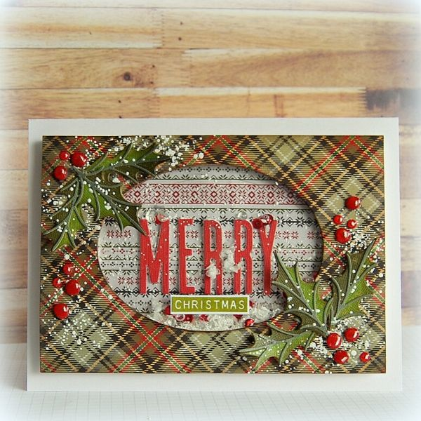 Merry Christmas Shaker Card by Kath Stewart