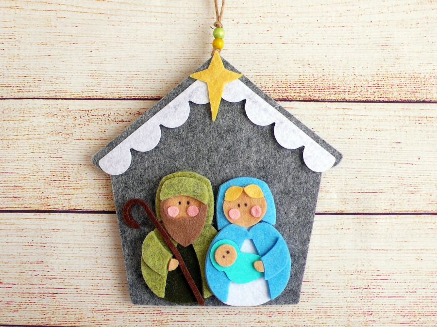 Felt Sweet Nativity for Christmas