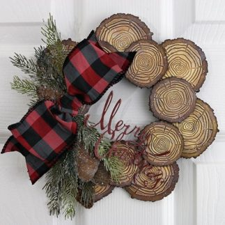 Festive Tree Ring Wreath by Jan Hobbins