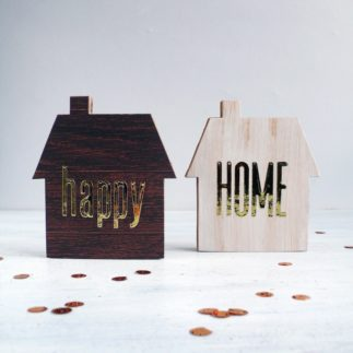 Home Decor: Set of 2 cardboard houses – VIDEO