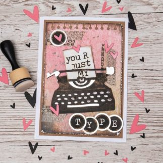 'Just my Type' collage using Tim Holtz designs - by Kath Stewart