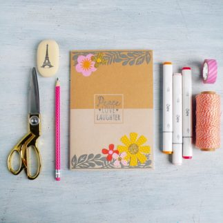 How to embellish your notebook cover