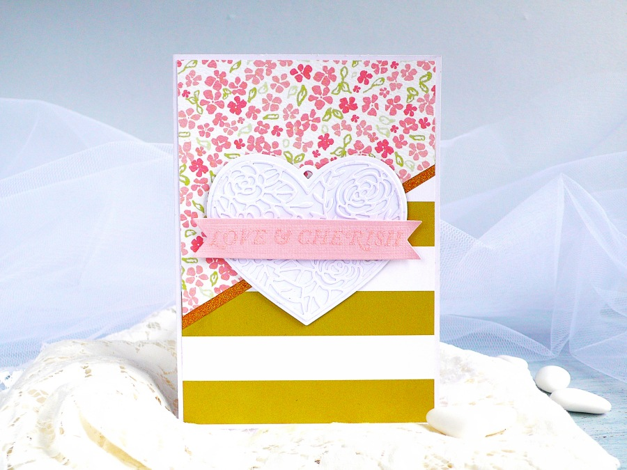Wedding Card with Heart Tag